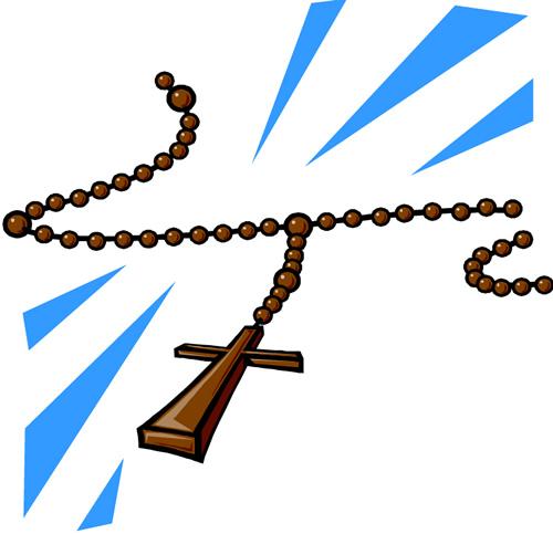 Rosary clip art 4