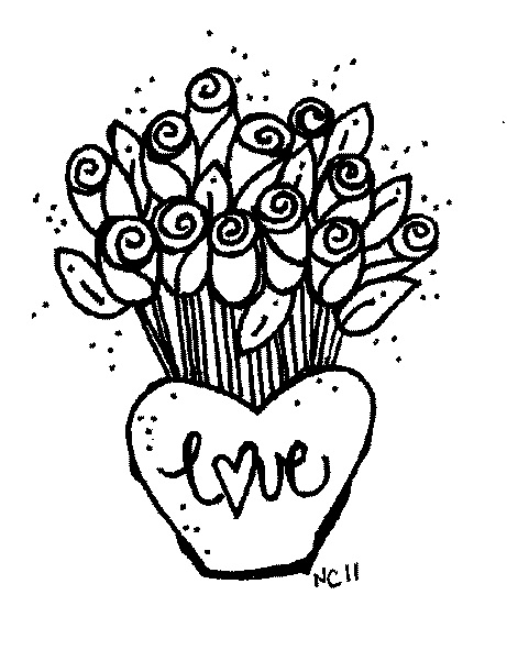 Rose  black and white dozen roses clip art black and white sketch coloring page