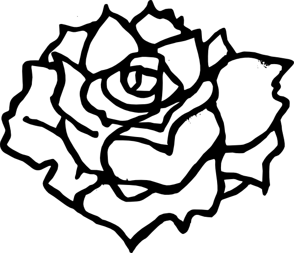 Rose  black and white rose clip art black and white free clipart images 2