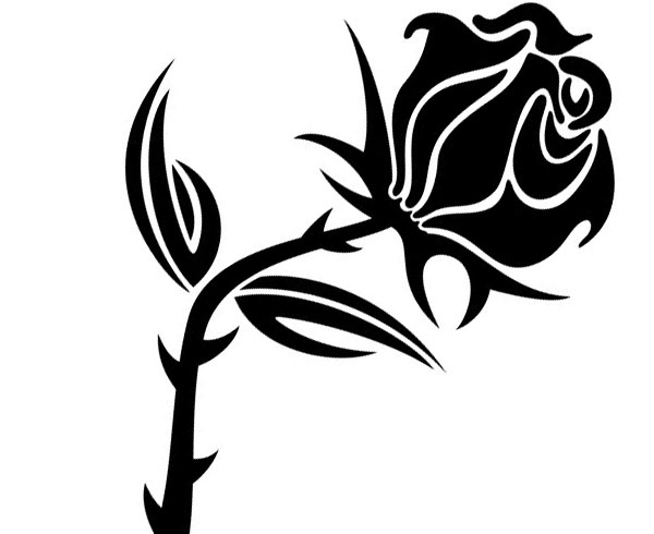 Rose  black and white rose clipart black and white clipart 2