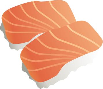 Salmon clip art 2 image