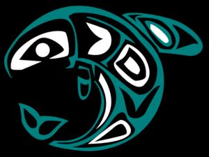 Salmon silhouette clipart 5
