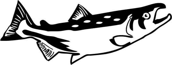 Salmon silhouette clipart