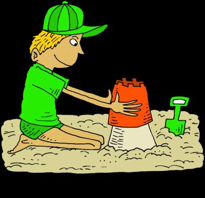 Sand castle clip art book covers