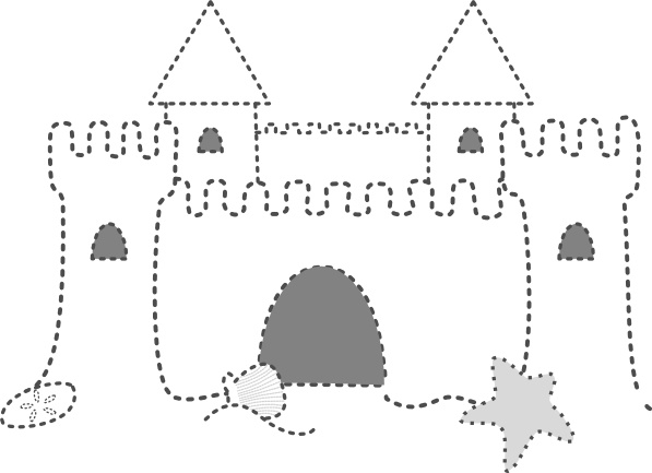 Sand castle clip art free vector in open office drawing svg