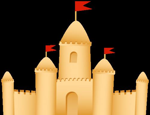 Sand castle clip art web clipart