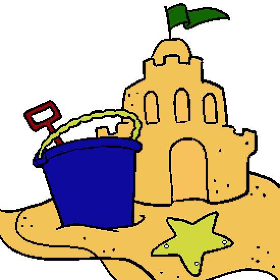 Sand castle clip art