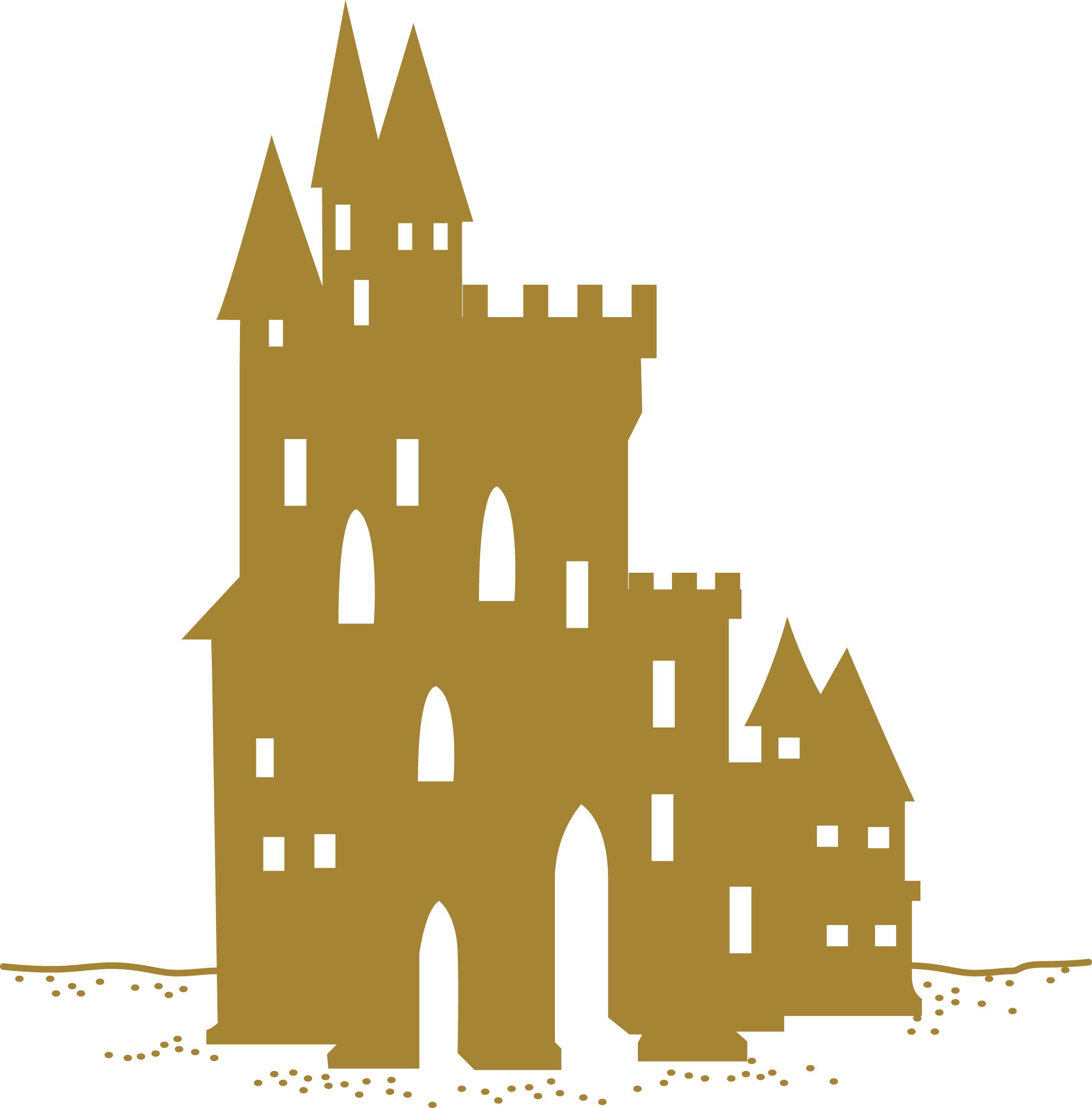 Sand castle clipart 2