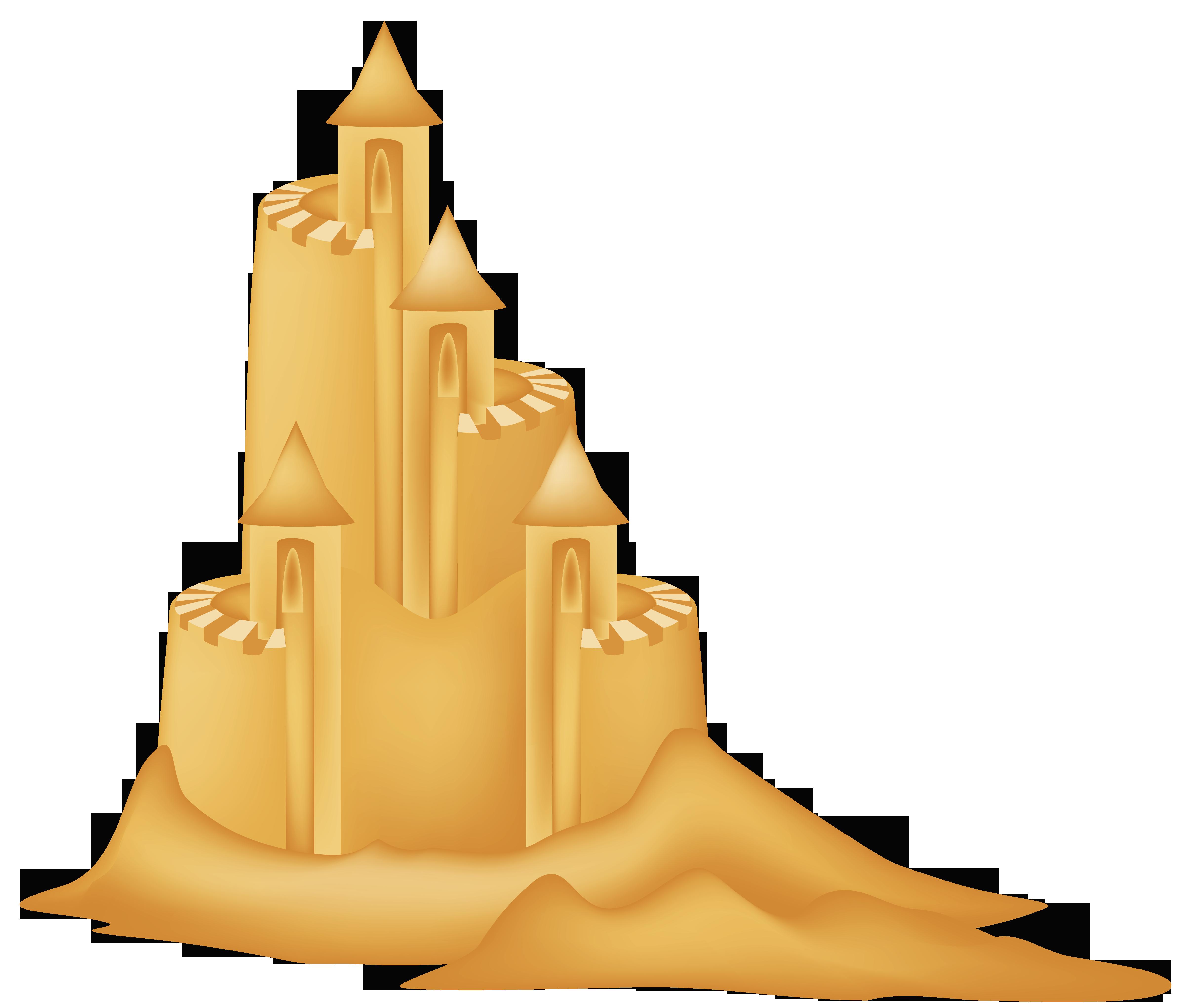 Sand castle clipart picture