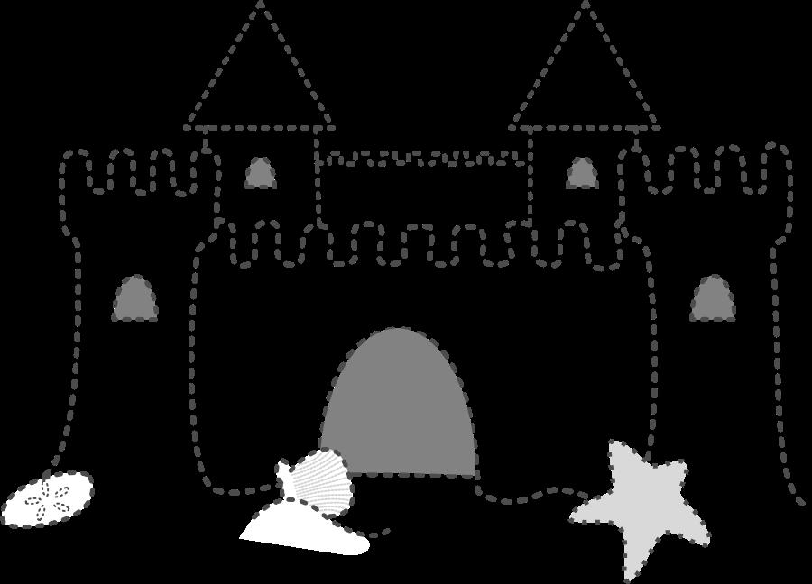 Sand castle clipart vector clip art free design