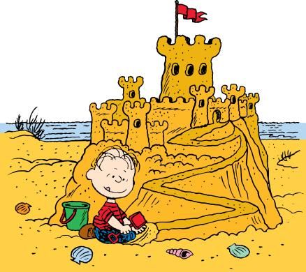 Sand castle happiness is and sands on clipart
