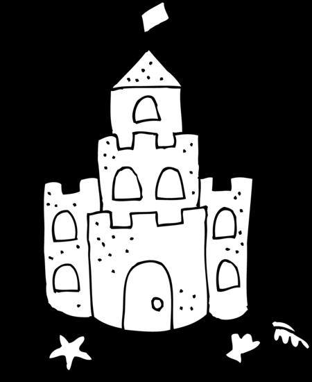 Sand castle printable clipart