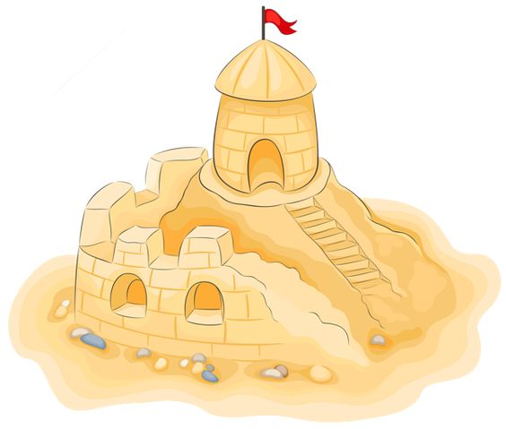 Sand castle sands castles and pictures on clipart