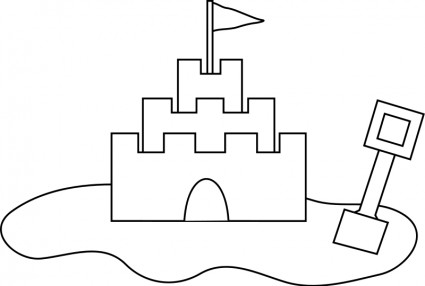 Sand castle vector clip art free vector free download