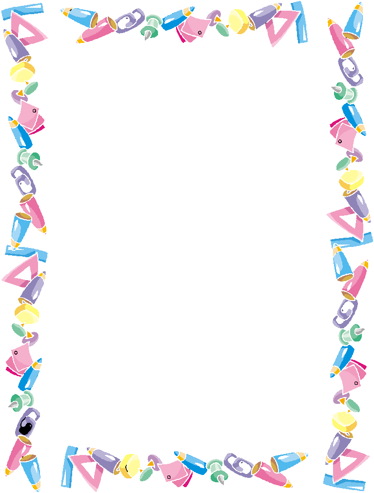 School Border Clipart_13299 on Printable Summer Coloring Paper