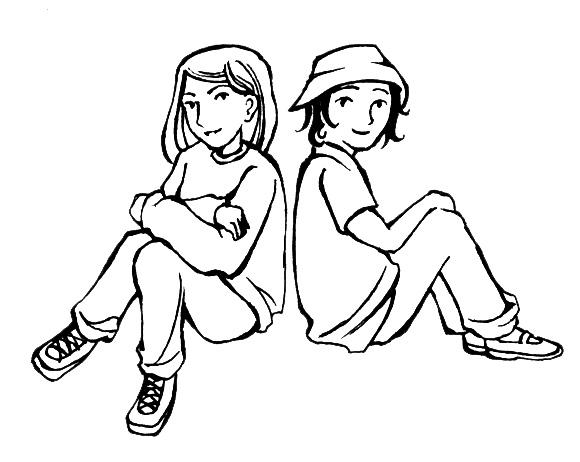 School friends clip art free clipart images
