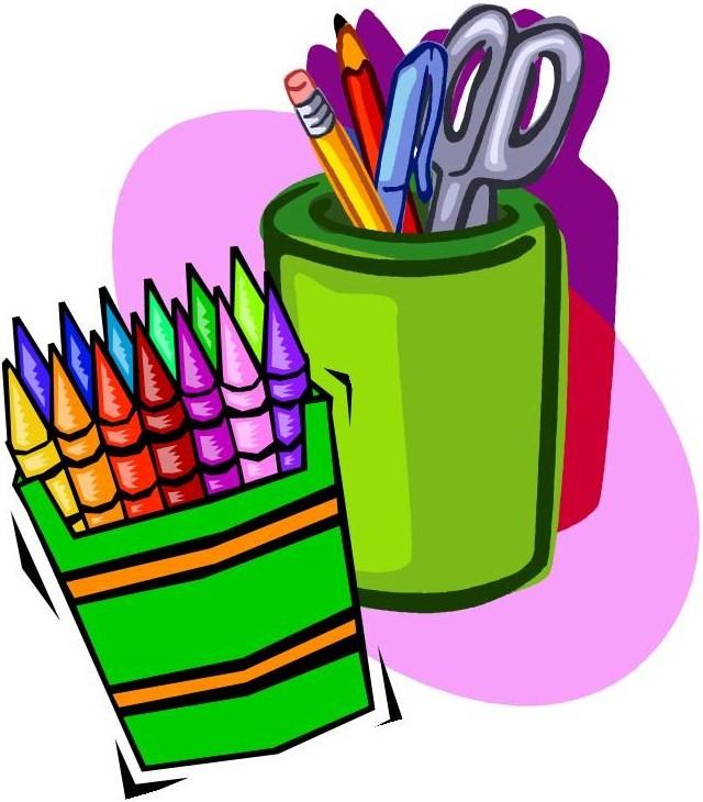 School supplies art supplies clipart