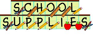 School supplies clipart 0