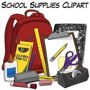 School supplies clipart 6