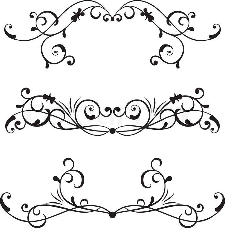 Fancys scroll. Scrollwork fancy clipart wikiclipart