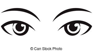 Set of eyes clipart