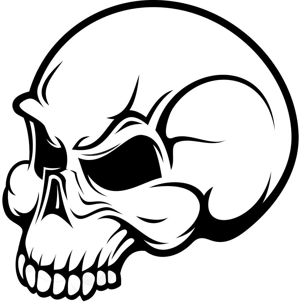 Simple skull clipart