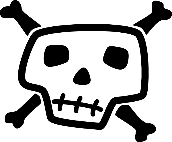 Skull and crossbones clip art free vector in open office drawing 2
