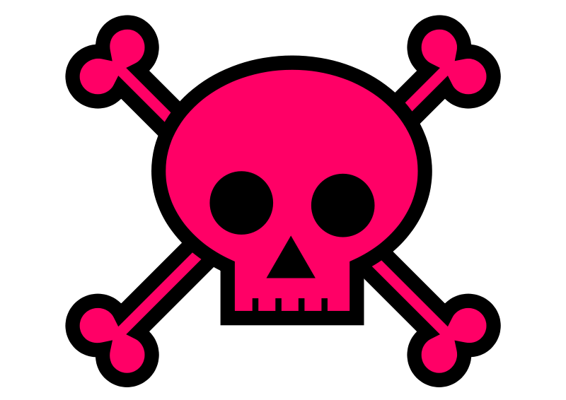 Skull and crossbones clip art free vector in open office drawing