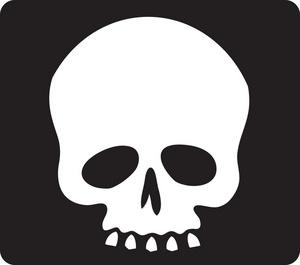 Skull and crossbones dromfhp top clipart