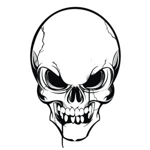 Skull clip art to download