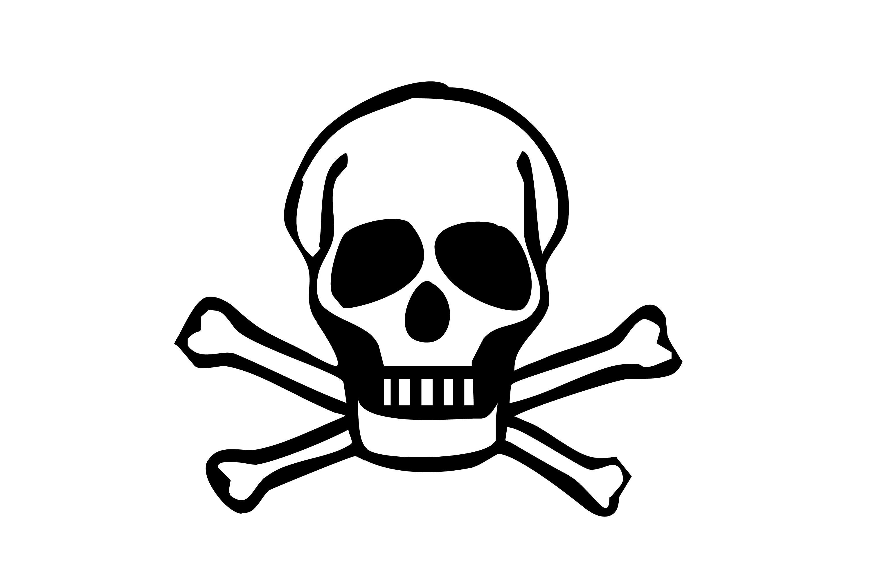 Skull clip art vector free 3