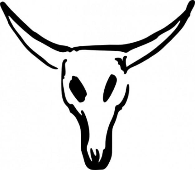 Skull clip art vector free