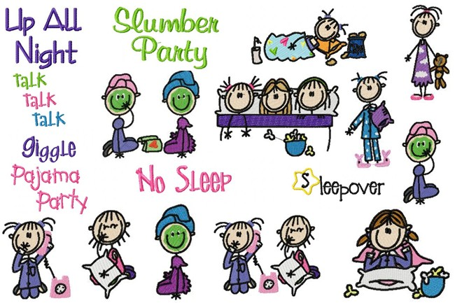 Sleepover party clipart 6
