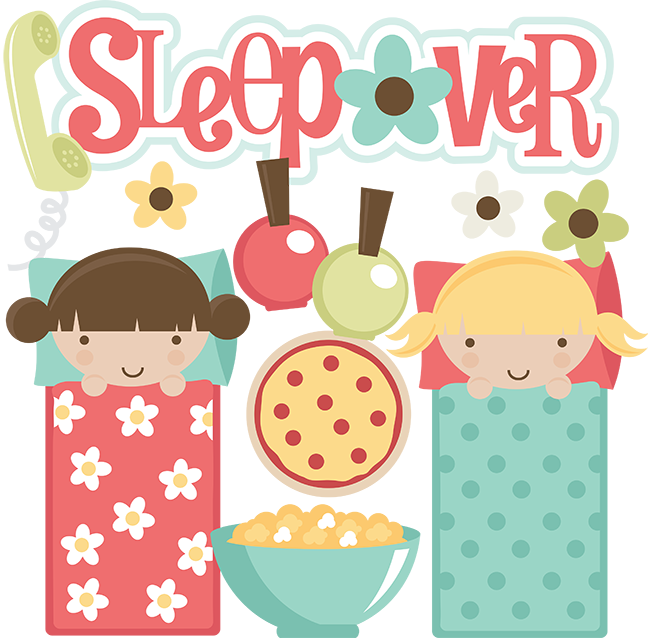 Sleepover party clipart