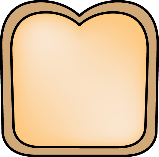 Slice of bread clipart 2