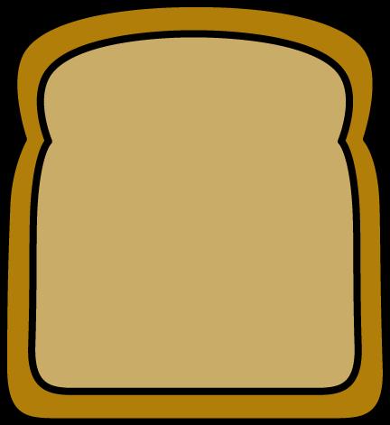 Slice of bread clipart