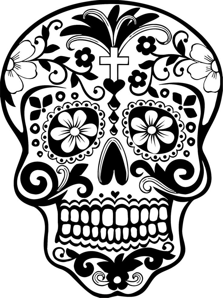Sugar skull clipart