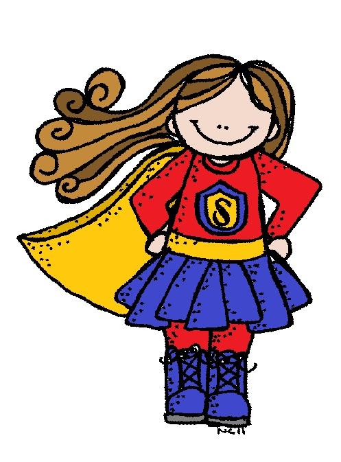 Superhero for teachers clipart 3