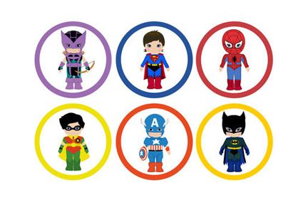 Superhero for teachers clipart 4