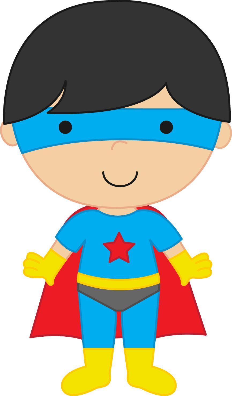 Superhero super clipart