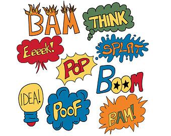Superhero super hero words clip art free clipart images 4