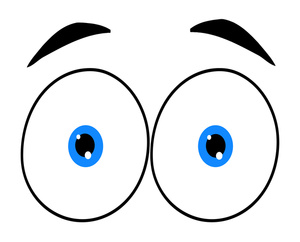 Surprised eyes clipart