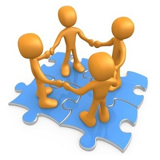 Teamwork puzzle clipart free images