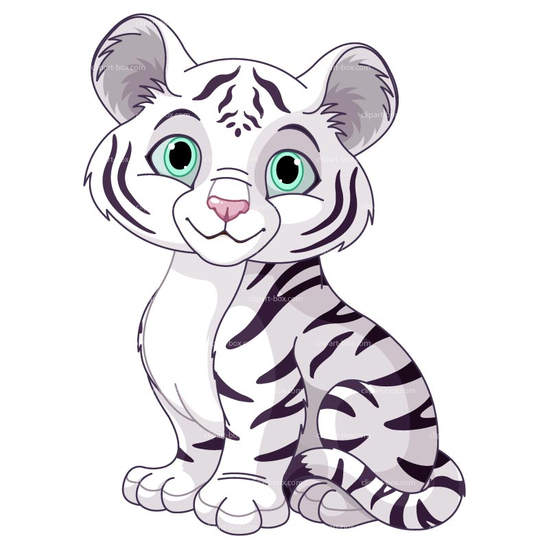 Tiger  black and white baby tiger top clip art black and white images for image