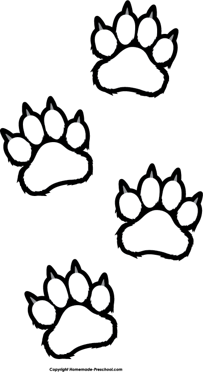Tiger  black and white tiger claw clipart clipartfest