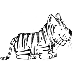 Tiger  black and white tiger clipart black and white free