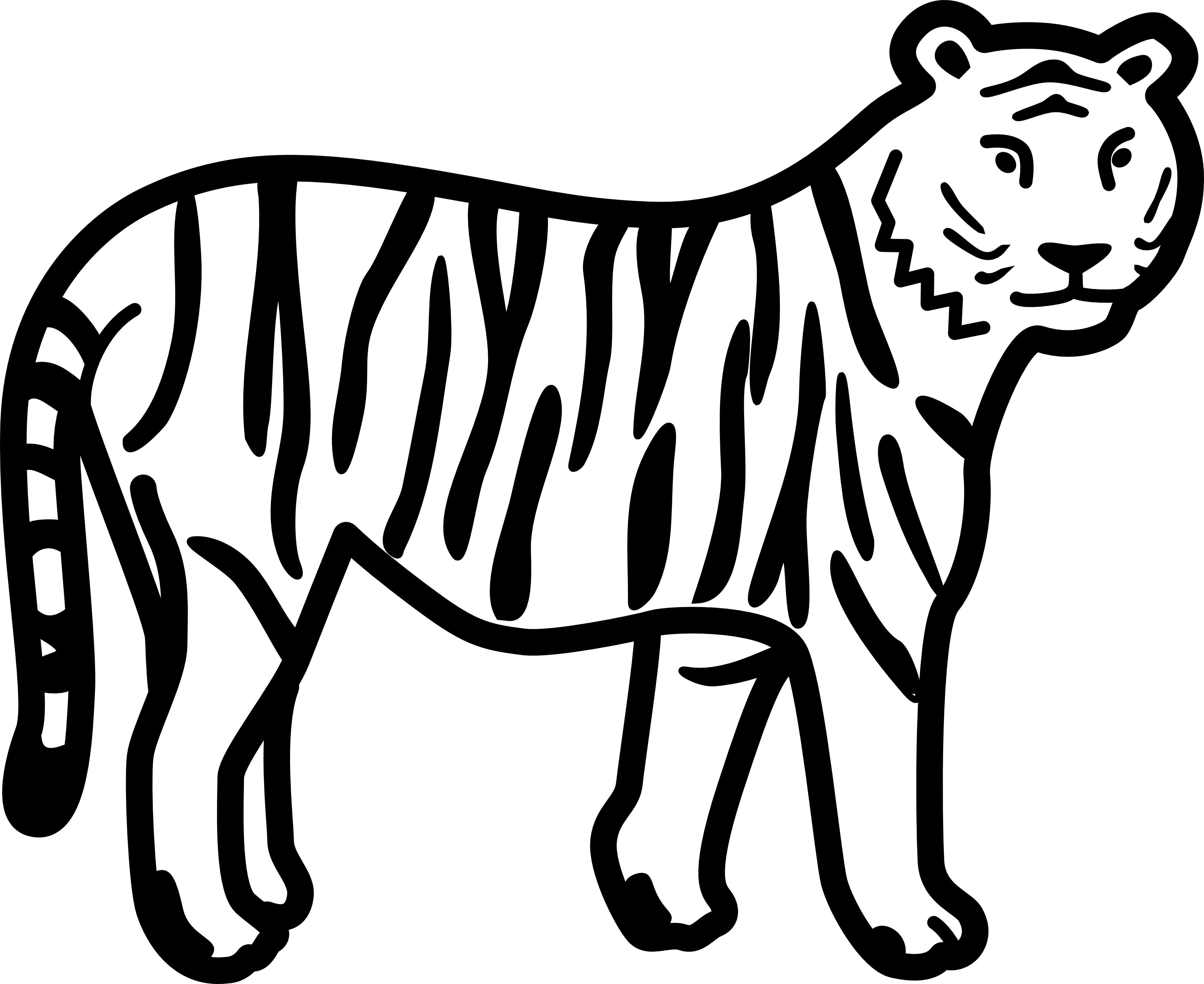 Tiger  black and white tiger face clip art black and white free clipart 2