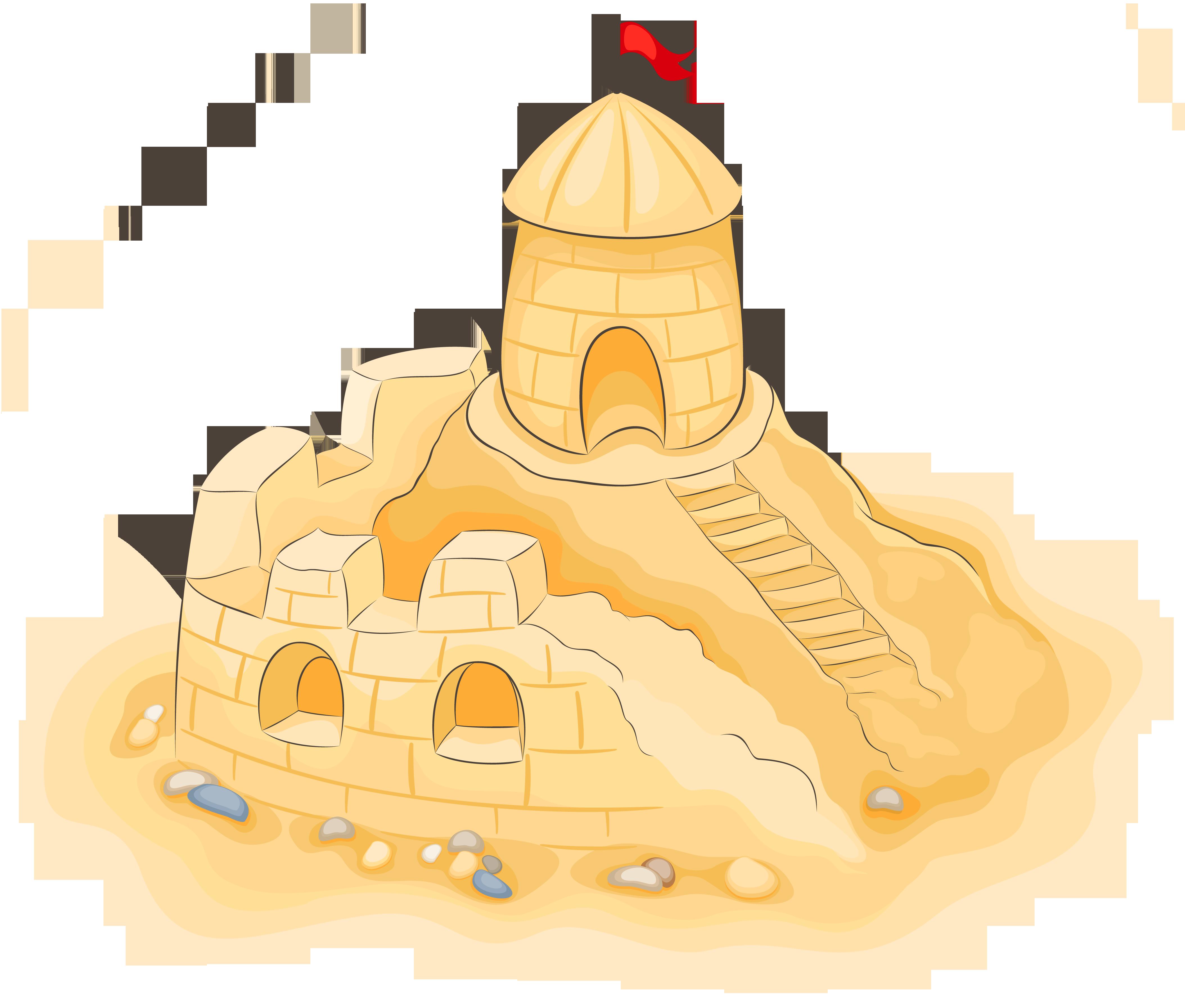 Transparent sand castle clipart picture