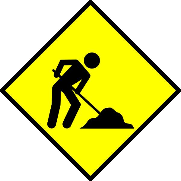 Under construction clip art at vector clip art