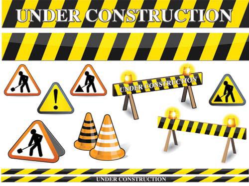 Under construction clip art vector il volo flight crew share